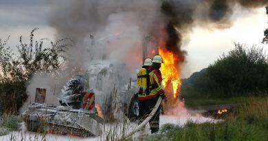Brennt Landmaschine